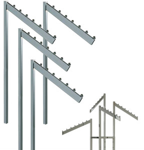 2 & 4 Way Rack Rectangular Slanted With 7 Retaining Replacement Arms
