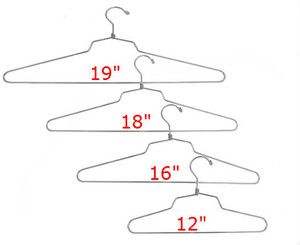 Steel Dress & Shirt Hangers CHROME