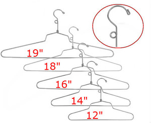 Steel Dress & Shirt Hangers with  Loop | Chrome