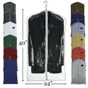 "40"" Vinyl Zippered Suit Cover"