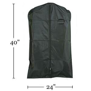 "40"" Heavy Duty Vinyl Zippered Suit Cover BLACK"