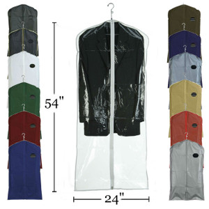 "54"" Vinyl Zippered Suit & Coat Cover"