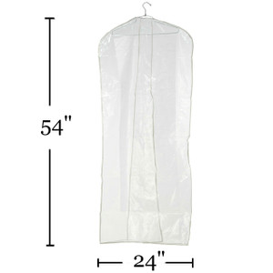 "54"" Clear Suit & Coat Overlap Cover  No Zipper  Min. Quantity 35"