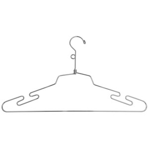 "16"" Metal  Lingerie Hanger w/ Loop Hook"