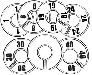 Round Size Dividers | Options: Blank, 1 to 58 0/Size