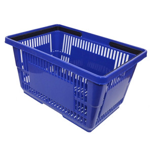 Plastic Shopping Baskets - BLUE