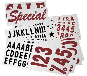 """315 - 5"""" Letter & 10"""" Number for XL Deluxe Message Board Sign"""