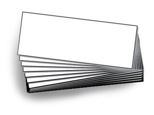 9.25H x 24H Blank Inserts for Message Board Sign   Box of 10