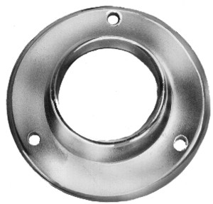 "Closed Flange For 1-1/4"" Round Tubing  Hangrail Wall-mount Bracket"