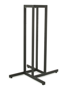 4 Way Rack Base Only | .5 x 1.5 Rectangular Tubing | Texture Black