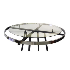 "36"" round glass topper shelf for a  42"" round clothes rack"
