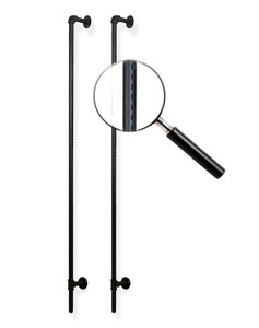 Pipeline Outrigger Display, Wall Uprights   MATT BLACK
