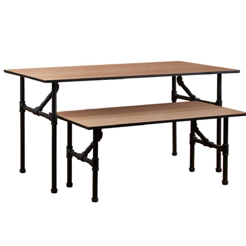 Pipeline Nesting Table Set Small & Large  MATTE BLACK