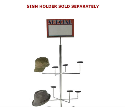 Hat Stand Sign Holder