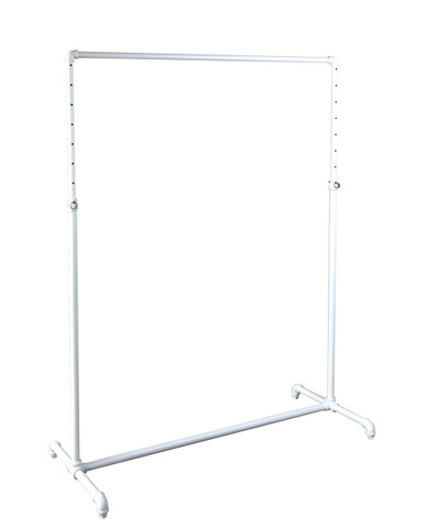 "48"" Single Rail Ballet Bar Pipe Clothing Rack 