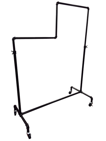 "49"" Two Level Adjustable Height Pipe Clothing Display Rack 