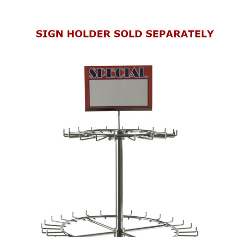 Spinning Tie Display Rack Sign Holder Example