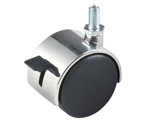 516 Threaded Casters for Clothing Racks  Chrome WITH Brakes