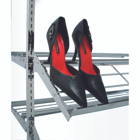 Shoe Rack Display with 8 Shelves 2-Sided | CHROME