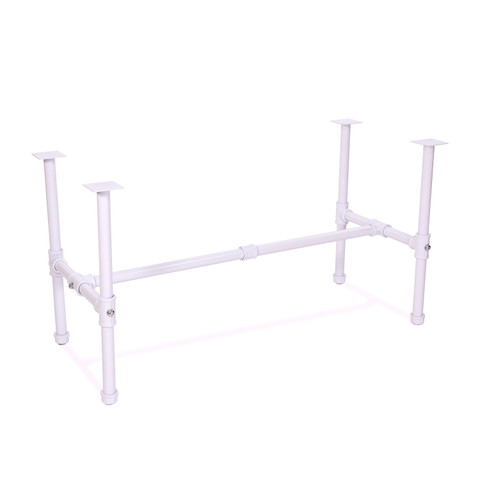 Small Pipeline Nesting Table FRAME only | Gloss White