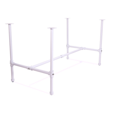 Large Pipeline Nesting Table FRAME only | Gloss White