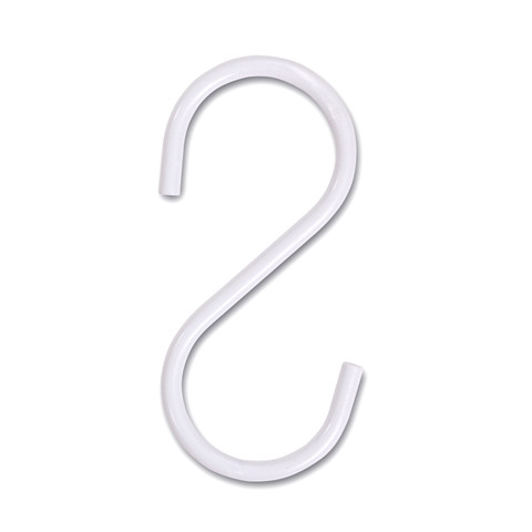 S Hooks for Pipeline Clothes Racks  Pack of 50  Gloss White