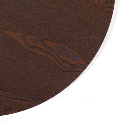 30 Wood Topper Round Clothing Rack  Dark Brown