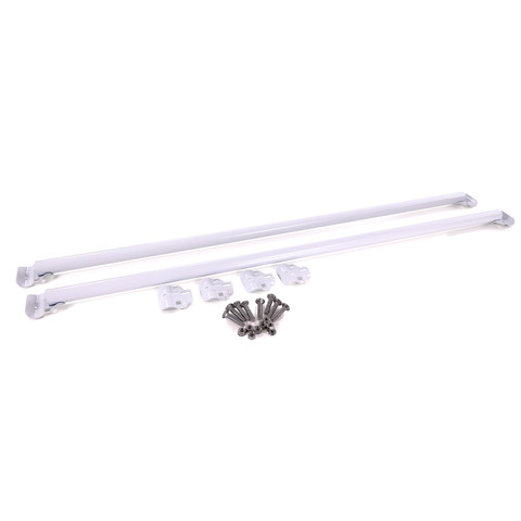 """48"""" Extension Bars For Pipeline Free Standing Display   Gloss White"""
