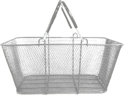 Wire Shopping Baskets SILVER | Product Display Soltuions