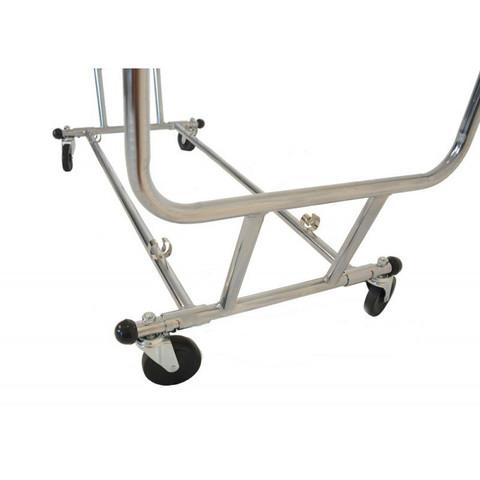 "Double Rail Portable Clothign Rack | Folds Flat to 55""x24""x6"""