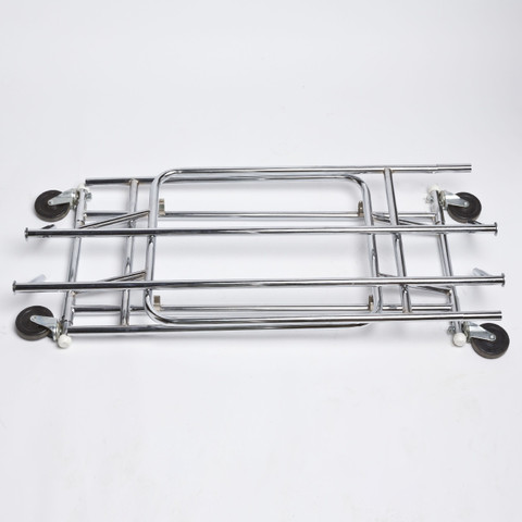 Folding Double Rial Rolling Clothing Rack