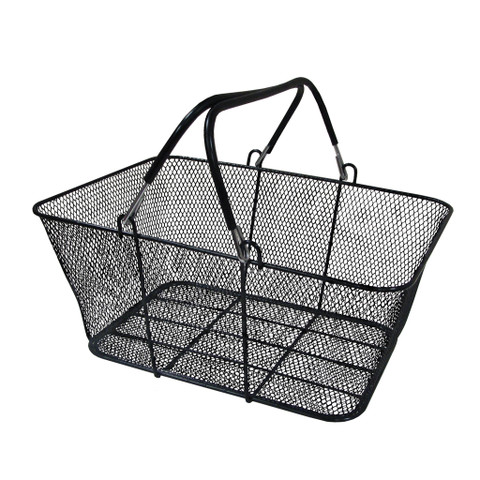 Wire Mesh Shopping Baskets BLACK | Case of 6