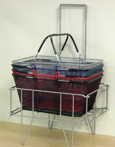 Wire Shopping Baskets BLACK   Product Display Soltuions