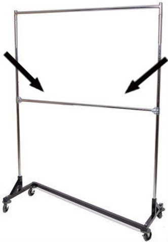 Add-On Rail For 5' Foot Z Racks | Product Display Solutions