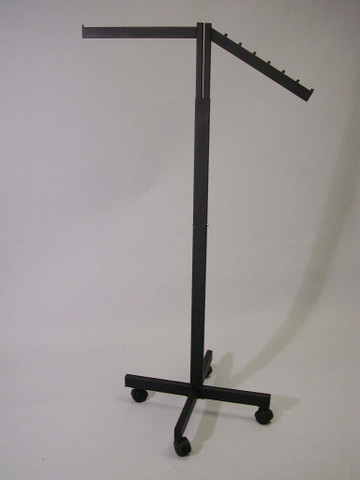 2 Way  Rack with Straight and Slanted Display Arms | Black