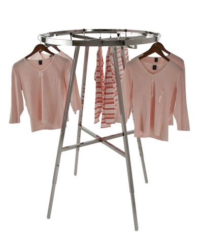 "36"" Round Rail Clothing Rack"