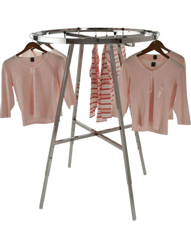 "Round Clothes Rack with 42"" (Dia) Display Rail 