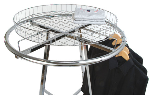 Round Clothing Rack Wire Basket Topper