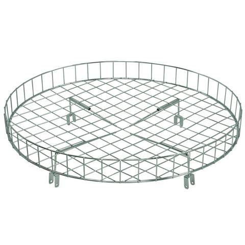 """30"""" Wire Basket Topper For Round Clothing Rack"""
