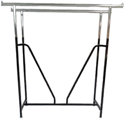 Double Rail Rack with V-Brace | BLACK