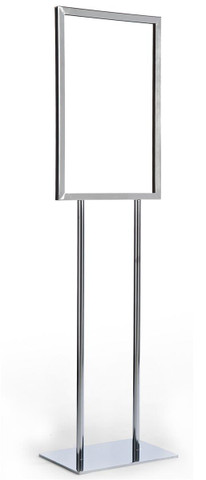 14 x 22 Bulletin Sign Holder  Chrome