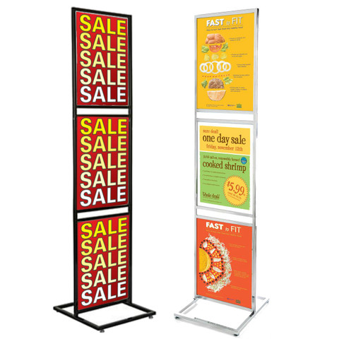 "22"" x 28""  3 Tiers Bulletin Sign Holder 