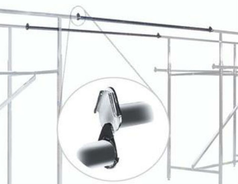 "Double Rail Clothing Rack | 60""L Extansion Rail 