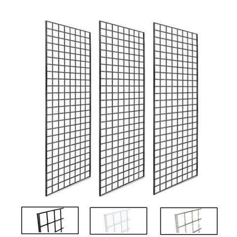 2' X 5' Gridwall Panels | Black, White or Chrome