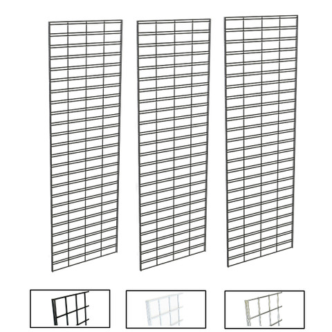 2' X 6' Slatgrid Panels | Black, White or Chrome