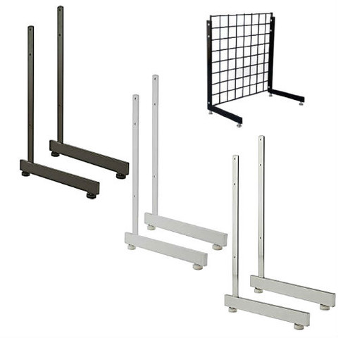 Gridwall L Shaped Base | Black, White or Chrome