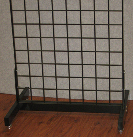Gridwall Deluxe Base   Black, White or Chrone