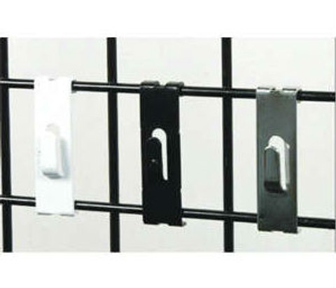 Gridwall Notch Hooks | Black, White or Chrome
