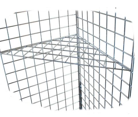 Gridwall Triangular Corner Shelf | Black, White or Chrome