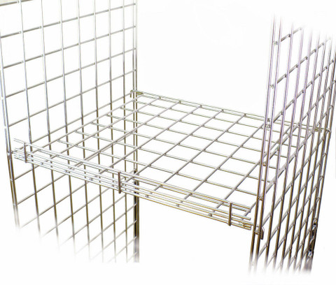 "Gridwall Internal Flat Shelf 24"" x 24"" 